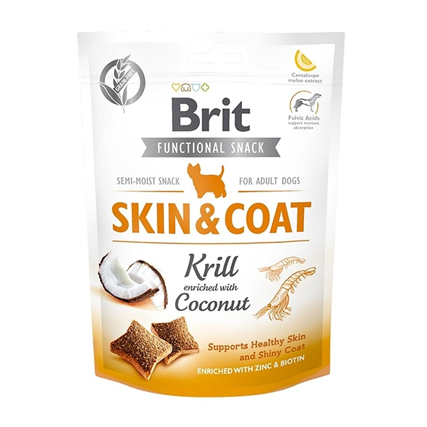 Brit Care Function Snack Skin Coat Krill Köpek Ödülü 150 gr