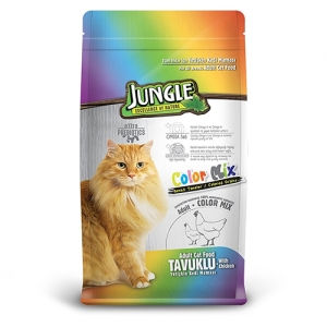 Jungle Colormix Tavuklu Kedi Maması 15 kg