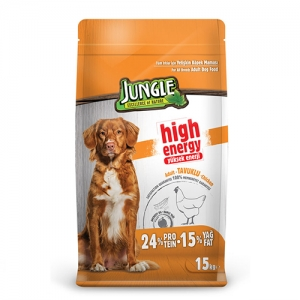 Jungle High Energy Tavuklu Yetişkin Köpek Maması 15 Kg