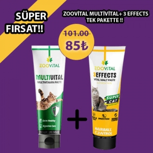 Zoovital Multivitamin Ve Zoovital 3 Effects Fırsat Paketi